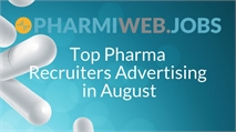 Top Pharma Recruiters Advertising in August